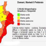 Maltempo: domani allerta rossa in Calabria, chiuse molte scuole