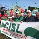 Sindacati: Cisl Magna Graecia, in quattrocento in piazza a Roma