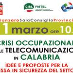 Telecomunicazioni: i sindacati incontrano i deputati calabresi