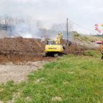 Incendio cantiere metro Catanzaro, anche elicottero per spegnerlo