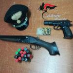 Armi: pistola, fucile e munizioni in casa, un arresto nel Vibonese
