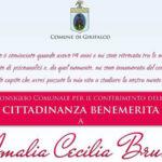 Girifalco: 4 marzo comune conferisce cittadinanza benemerita alla Bruni