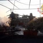 Roulotte distrutta da un incendio località Cartolano di Falerma