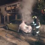 Incendi: auto in fiamme nella notte a Montepaone Lido