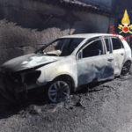 Auto distrutta da un incendio nella frazione Adami di  Decollatura