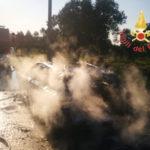 Incendi: auto in fiamme in contrada Frassà di Maida