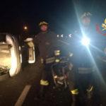 Incidenti stradali: auto si ribalta sulla 280 nei pressi di Lamezia, un ferito