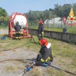 Esercitazione del personale nucleo Nbcr Vigili del Fuoco