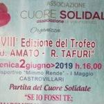 Castrovillari: comune patrocina la XVIII partita di solidarieta'