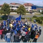 """Lamezia: flash mob festa Europa alunni Iis """"L. Costanzo"""""""