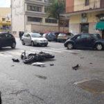Lamezia: scontro tra auto e moto in via Federico Nicotera, un ferito
