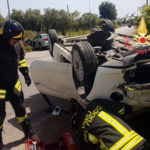 Lamezia: incidente stradale in Via Murat, due persone ferite