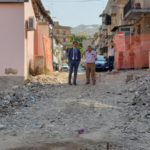 Comune Reggio: sopralluogo sindaco su cantiere piazza a Tremulini