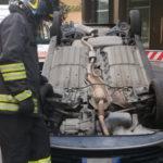 Lamezia: scontro tra due vetture in via dei Mille, una si ribalta