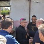 Lamezia: Vescovo Schillaci in visita al campo di Scordovillo