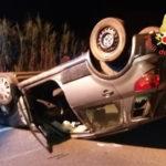 Incidenti stradali: si ribalta auto, donna ferita nel Lametino