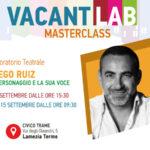 Lamezia a settembre il laboratorio teatrale Vacantiandu con Diego Ruiz