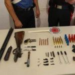 Armi e munizioni in casa, un arresto d ei Carabinieri  nel Reggino