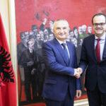 Regione: Musmanno ricevuto a Tirana da presidente Albania