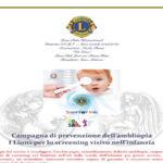 Il Lions Club Lamezia Host prevenzione ambliopia: campagna di screening