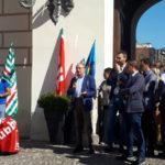 Province: Iacucci in piazza con dipendenti e sindacati