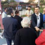 Comunali: Lamezia, Massimo Cristiano visita il percorso della salute