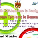 Demenze: sportello d'ascolto per familiari pazienti a Catanzaro