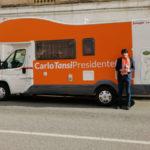 Parte oggi il tour elettorale in camper di Carlo Tansi, tappa San Luca