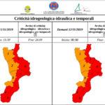 Maltempo: allerta in Calabria, domani scuole chiuse in molti centri