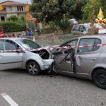 Incidenti: scontro tra due auto sulla provincia 84, un ferito