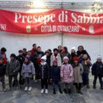 I bambini di Amato in visita al Presepe di Sabbia di Catanzaro