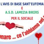 L'Asd Lamezia Bikers con Avis per scambio auguri donando sangue