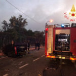 Incidenti stradali: auto si ribalta nel comune di Borgia, un ferito
