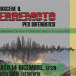 Lamezia: terremoto, incontro al Chiostro con la Protezione Civile
