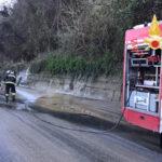 Fango invade la statale 280 tra gli svincoli di Maida e Lamezia