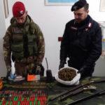 Ciminà: rinvenute armi e 500 grammi di canapa indiana