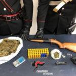 Trovato con Droga, arma e munizioni: arrestato dai Carabinieri