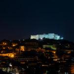 Beni culturali: illuminato da fascio luci castello normanno Vibo