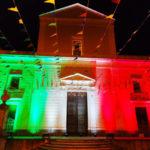 Lamezia: La Chiesa Matrice illuminata con i colori bandiera italiana