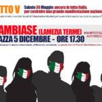 Mascherine Tricolori Il 30 maggio a Lamezia in piazza 5 Dicembre