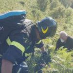 Precipita con parapendio soccorso dai Vigili del Fuoco