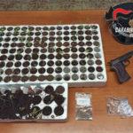 Pistola, munizioni e piantine di marijuana: un arresto
