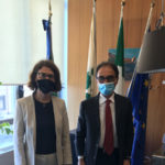 Saluti istituzionali fra il sindaco Abramo e il prefetto Ferrandino