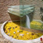 Lamezia: Stato di abbandono della fontana di piazza Franzì a Sambiase