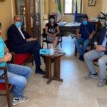 Maida Viscomi e Zicchinella, in visita al sindaco Paone