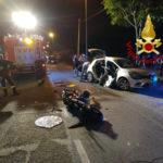 Lamezia: scontro tra un auto e una moto cinque feriti