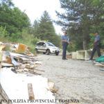 La Polizia Provinciale sequestra sei aree adibite a discarica abusiva