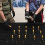 Armi, trovata pistole e munizioni, un arresto e una denuncia