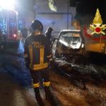 Incendi: a fuoco nella notte una Mercedes