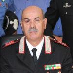 Il luogotenente carica speciale Paolo Campo saluta i commilitoni